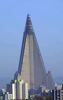 Pyongyang's Ryugyong Hotel, the tallest thing ever built for the wrong reason.  From http://xenohistorian.faithweb.com/neasia/