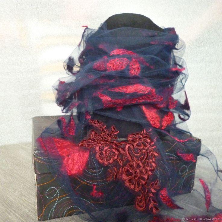 Купить Легкий валяный шарфик Кружевные всполохи в интернет магазине на Ярмарке Мастеров