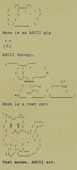 Animal Text Symbols