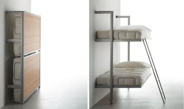 Le lit escamotable superposé pour les enfants - Lit Escamotable