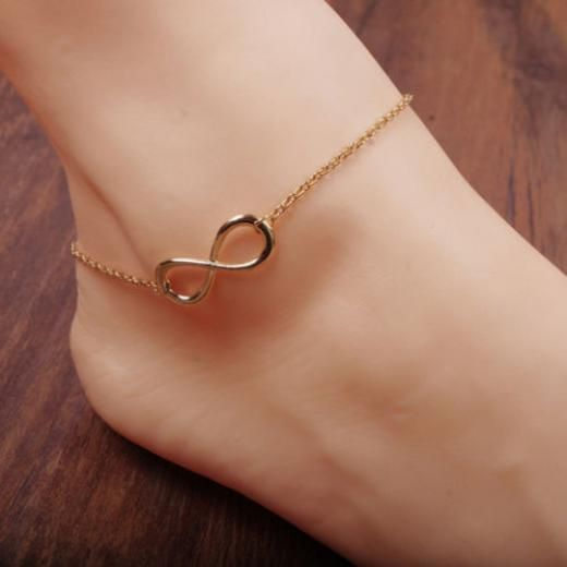 Women Gold/silver Chain Ankle Anklet Bracelet Barefoot Sandal Beach Foot Jewelry China Alloy