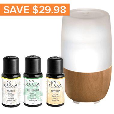 Ellia Aroma Diffuser & Essential Oil Blend Gift Set