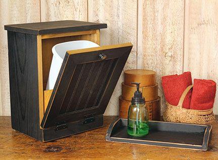 17 best images about primitive trash can storage on pinterest trash bins country charm and. Black Bedroom Furniture Sets. Home Design Ideas