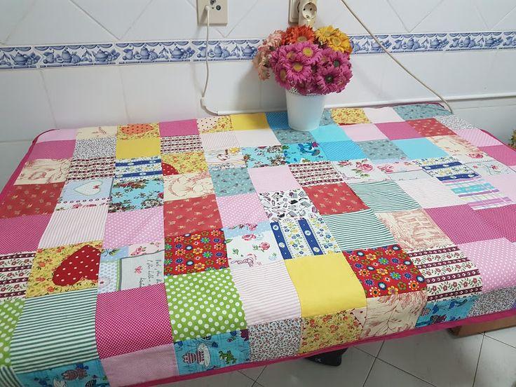 toalha de mesa que fiz com retalhos