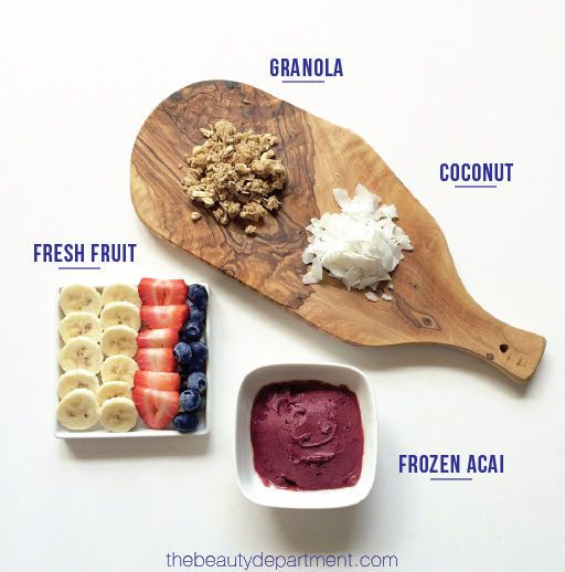 Breakfast just got a whole lot prettier! We're going to need you to stop what you're doing and go find the biggest bowl in your cupboard. Got it? Great! Now it's time to make a killer new breakfast trend called the acai bowl. | The Beauty Department