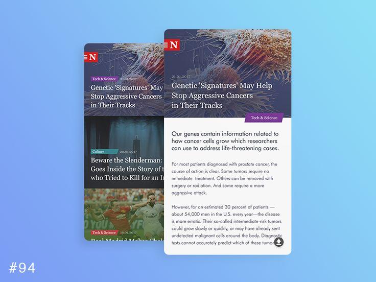 DailyUI design - News