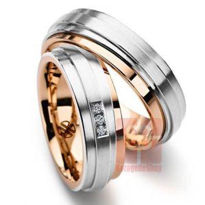 Cincin Kawin Giwangan Perak Lapis Emas