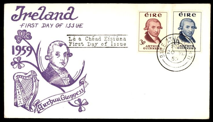 1959 Guiness Brewery Cacheted Unaddressed Unsealed FDC