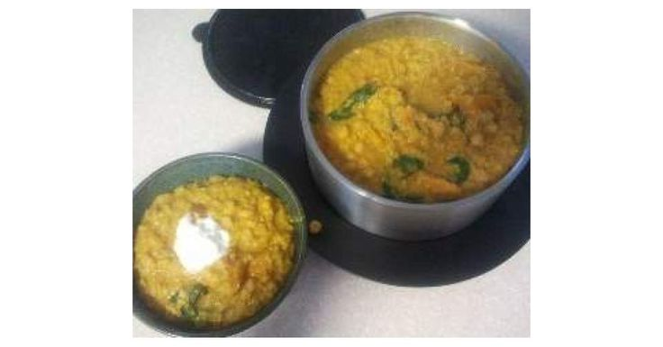 Chickpea, red lentil and pumpkin curry