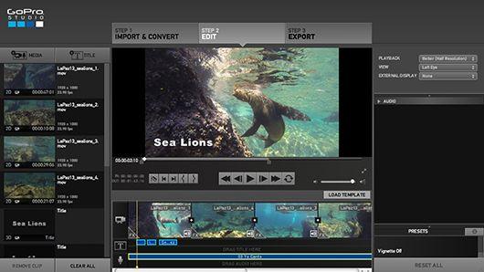 GoPro Studio for Underwater Video