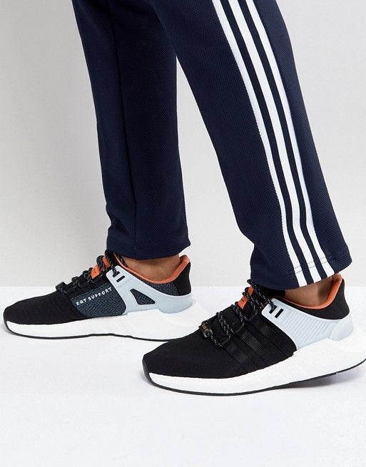34274087ba90 adidas Originals EQT Support 93/17 Trainers In Black CQ2396 | Things ...