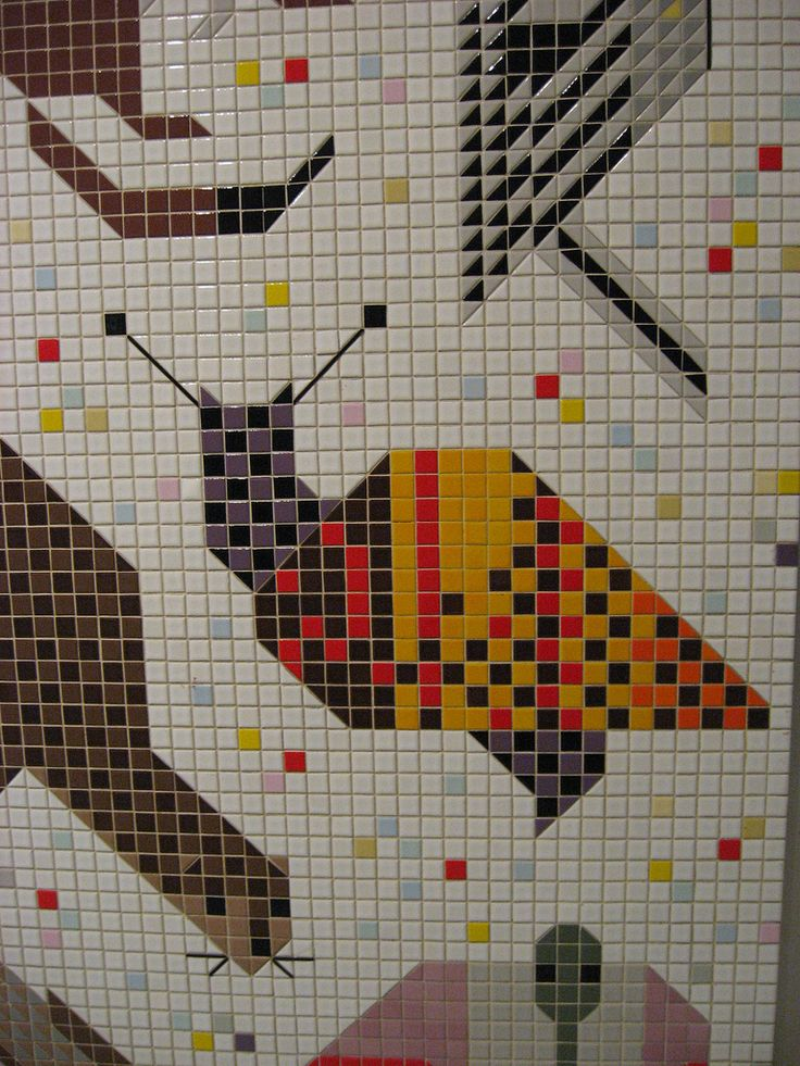 17 best images about mosaic on pinterest mosaic portrait for Charley harper mural