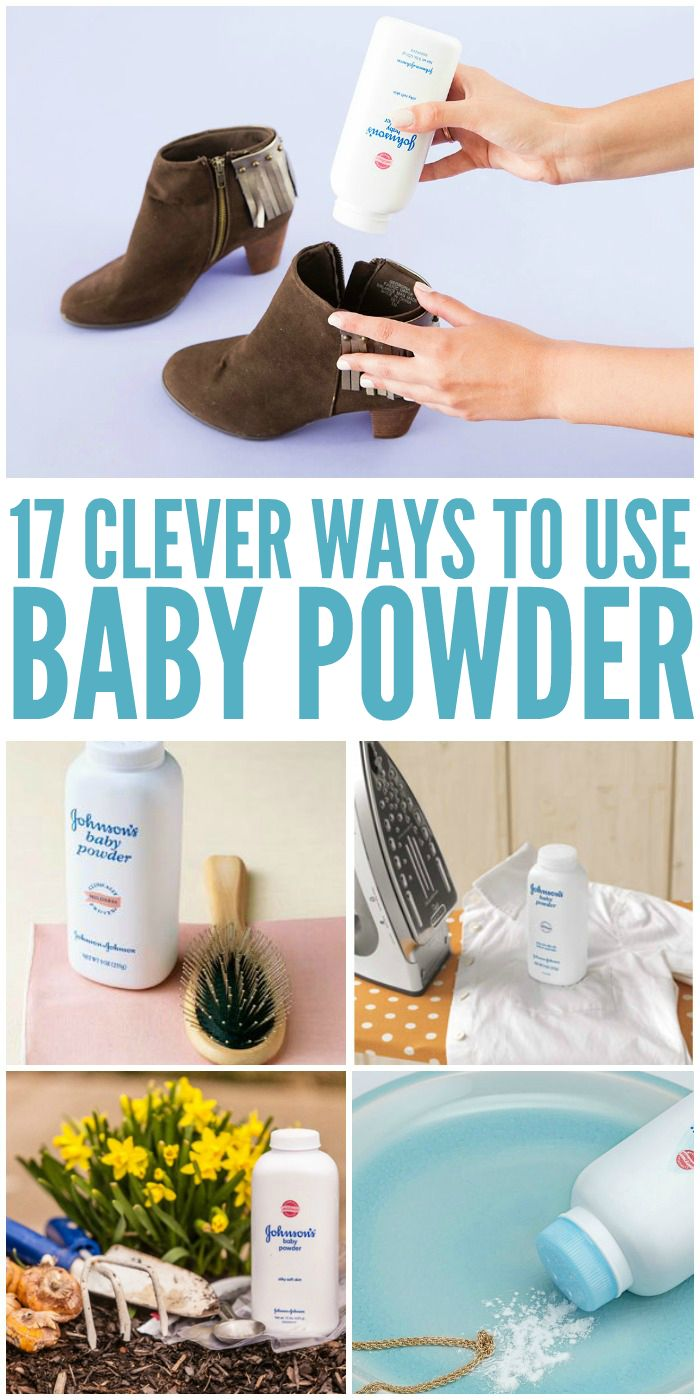 17 Ridiculously Clever Ways to Use Baby Powder - One Crazy House