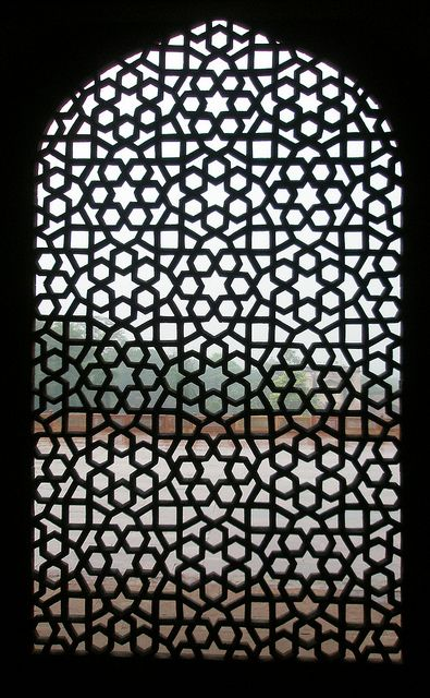 Stone lattice window