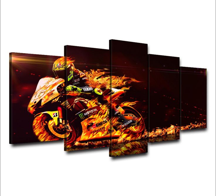 Upcoming arriving 5Piece Canvas Art Valentino Rossi Moto Poster Printed Wall Art Picture For Room Decor Art Canvas Painting Picture Poster Prints now at discount US $14.99 with free delivery  you'll find this amazing piece together with more at the eshop      Get it today at this site >> http://thegallery.store/products/5piece-canvas-art-valentino-rossi-moto-poster-printed-wall-art-picture-for-room-decor-art-canvas-painting-picture-poster-prints/,  #TheGalleryStore