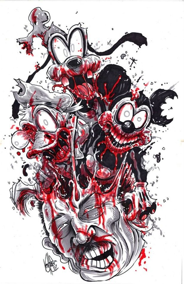 Zombie Pin Up Wallpaper