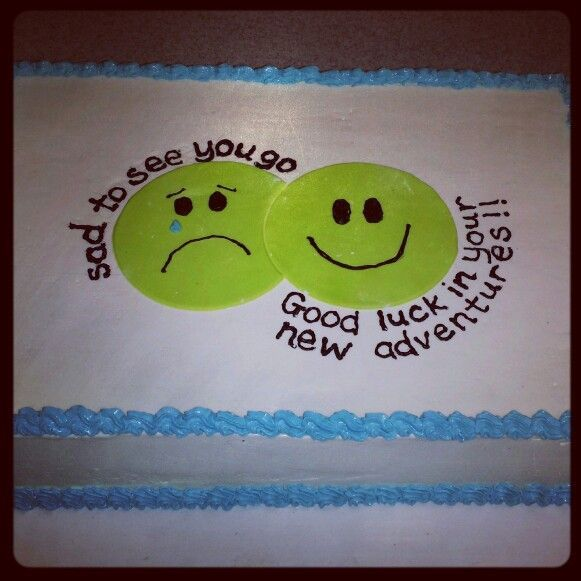 Going away cake by Bake My Day | Bake My Day | Pinterest