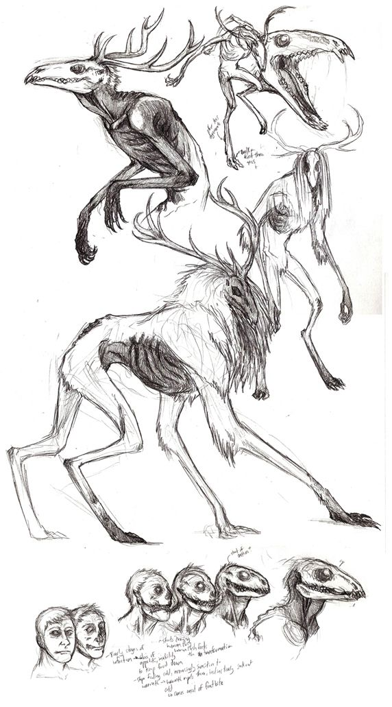 Different version of the Wendigo. In case I ever get around to that horror/fantasy story I've been wanting to do.