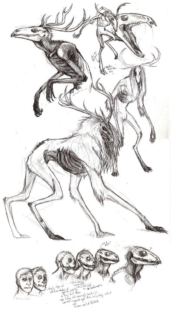 Wendigo Sketches by ~Beltaguise on deviantART