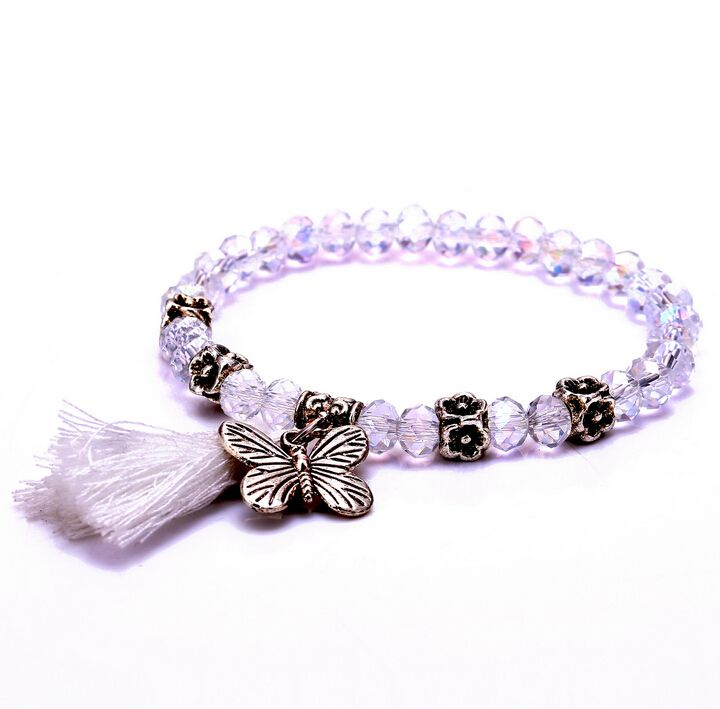 Find More Strand Bracelets Information about 2017 Zenper Hot sales handmade crystal Bracelets & Bangles  DIY butterfly tassel bracelets Christmas gift for women Pulseira L10,High Quality bracelet copper,China bracelet strand Suppliers, Cheap bracelet enamel from Yiwu zenper accessories crafts co.,ltd  on Aliexpress.com
