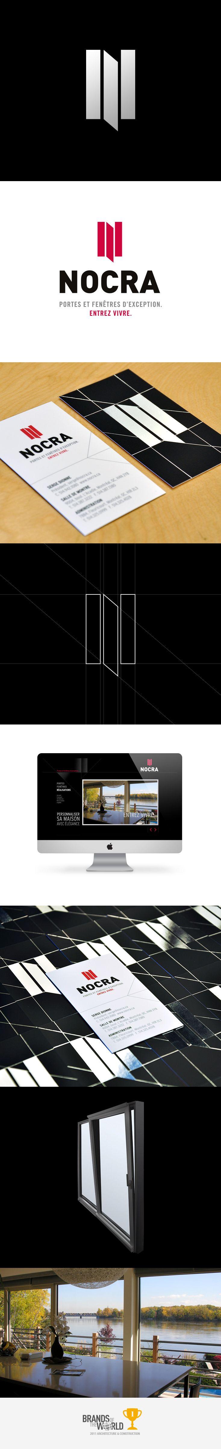 Branding de Nocra - création de Kryzalid.net. Gagnant de la catégorie Architecture et immobilier 2011 : www.brandsoftheworld.com/awards/2011-winners