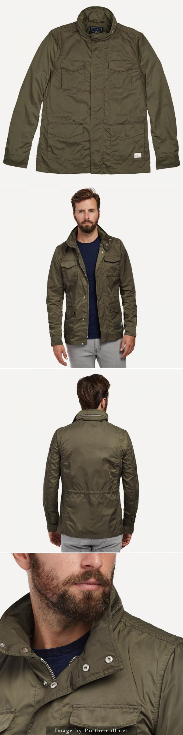 """My Nº. 1 recommended jacket for this fall, the Lightweight Nylon Military Jacket in Ivy - by Frank and Oak. I recently bought this and wear it every chance I get. I'm 6'5"""" and the Large is a perfect fit. The fabric has a great feel, the construction is excellent, and the ivy color is really cool. At $125 it's a great deal for a jacket that you will never want to take off. See more from @frankandoak #mensfashion #fallouterwear #nattyguy"""