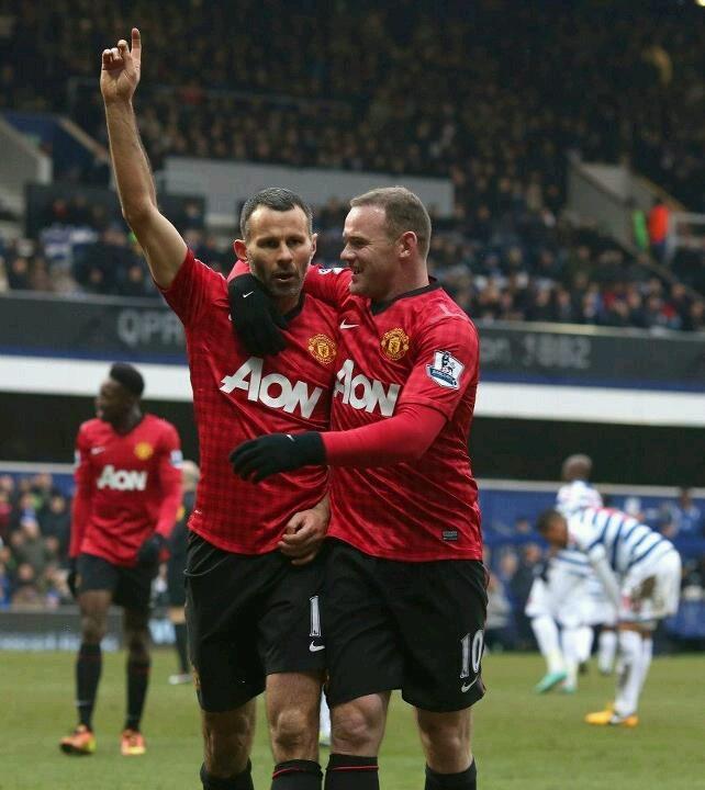 Ryan Giggs and Wayne Rooney