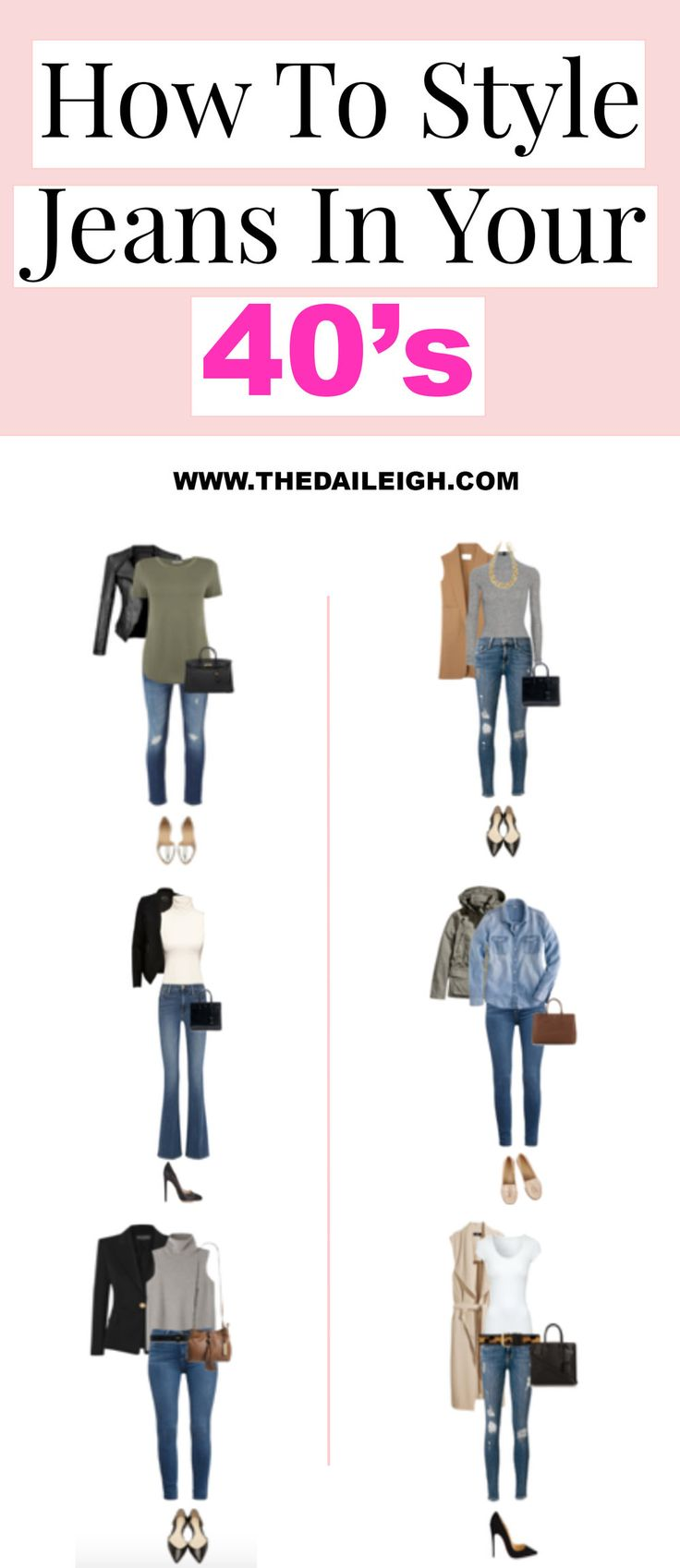 How To Style Jeans | How To Dress In Your 40's | Outfit Ideas For Women Over 40 | Wardrobe Essentials For Women Over 40 | Jeans Outfit | How To Dress Up Jeans | How To Wear Jeans | Chic Jeans Outfit | How To Be Stylish In Jeans | Jeans Outfit Ideas | Casual Jeans Outfit | How To Be More Stylish | How To Dress | Fashion Tips for Women