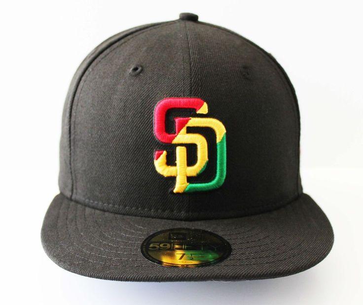 New Era 5950 - San Diego Padres RASTA - MLB Baseball Cap Hat | Clothing, Shoes & Accessories, Men's Accessories, Hats | eBay!