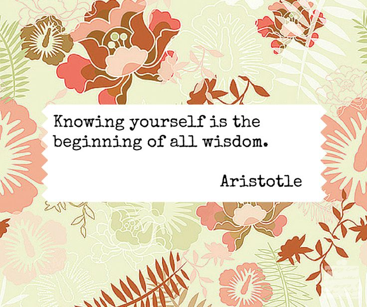 Knowing yourself is the beginning of all wisdom. - Aristotle -  #quotes #wisdom #inspiration #selfawareness #aristotle