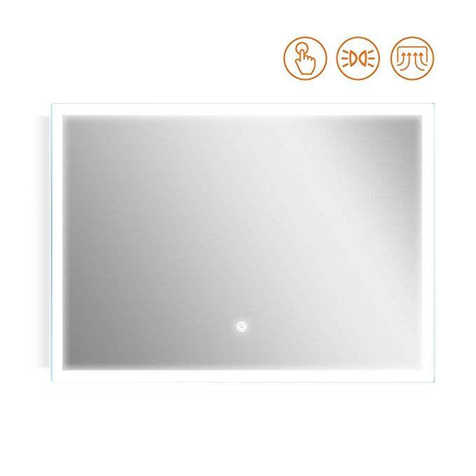 Kaasun 40x 27inch Led Bathroom Wall Mounted Backlit Vanity Mirror High Lumen Anti Fog Waterproof Horizontal Installation With T Mirror Vanity Mirror Led Mirror