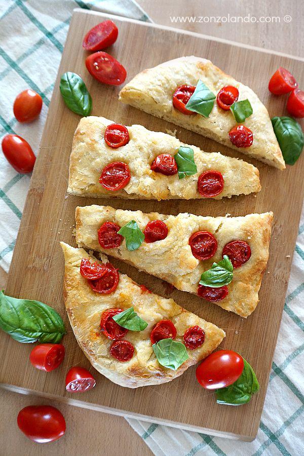 Focaccia con i pomodorini - Cherry tomato bread   From Zonzolando.com