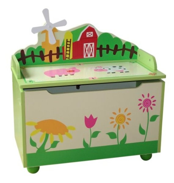 Farm Kids Childrens Multi Wooden Toy Box Bench Storage Box...love love love this....