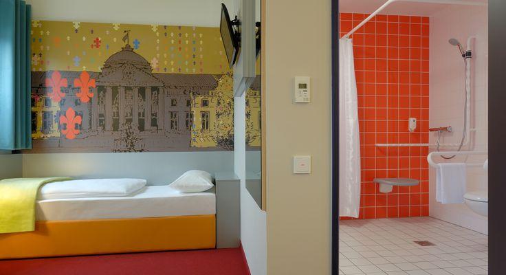 Barrierefreies Zimmer im B&B Hotel Wiesbaden
