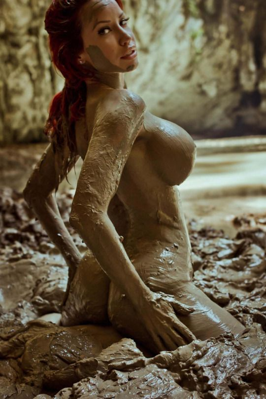 Piece Naked girl in mud