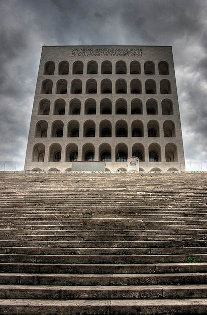 The Square Coliseum in EUR, Rome - il Colosseo Quadrato (Palazzo della Civiltà del lLavoro).