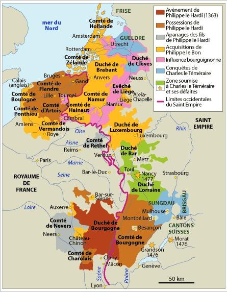 The Burgundian State Map, 1363-1477