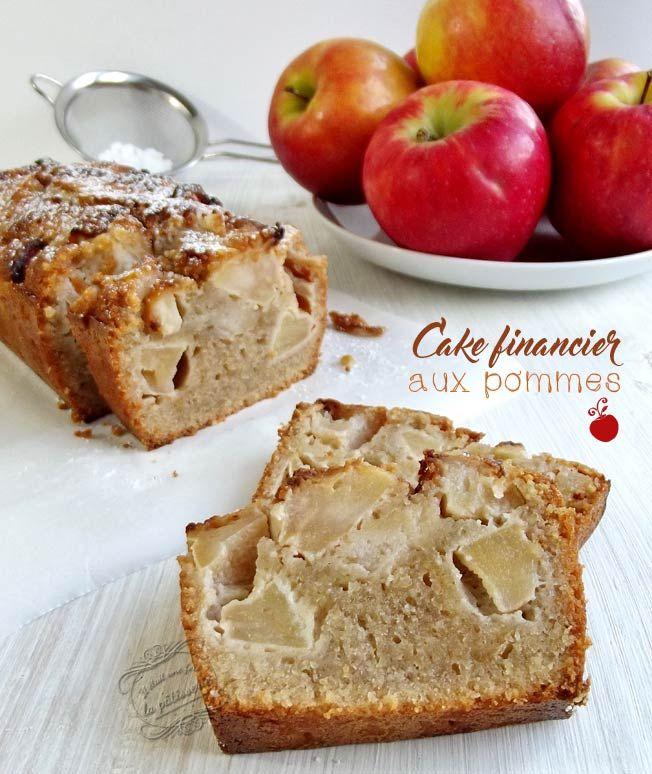 cake financier aux pommes