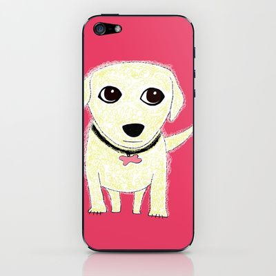 Bichon Bolognese dog iPhone & iPod Skin by Verene Krydsby - $15.00