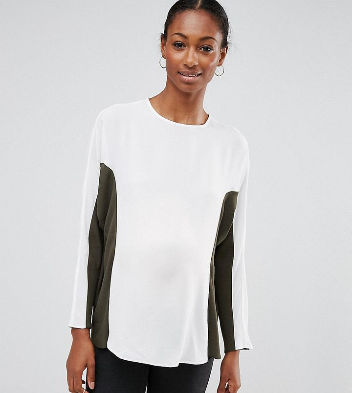 Asos Batwing Top in Color Block