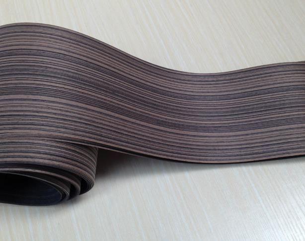 Panjang: 2.5 Meters Ketebalan: 0.25mm Lebar: 15 cm Hitam Zebra Furniture Kayu Veneer Pintu Speaker Kayu Veneer Tepi