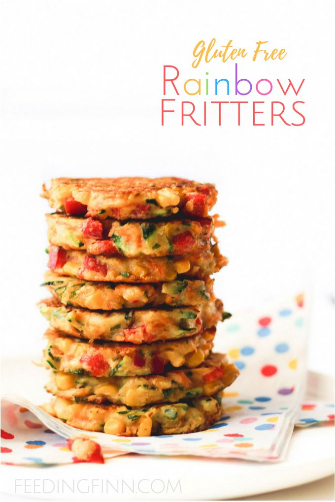 These rainbow fritters are a perfect finger food for kids and are great for blw …