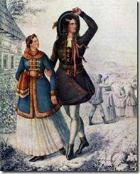 Družba a družica z dolnej Oravy -1847