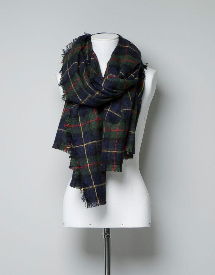 Tartan scarf @ Zara