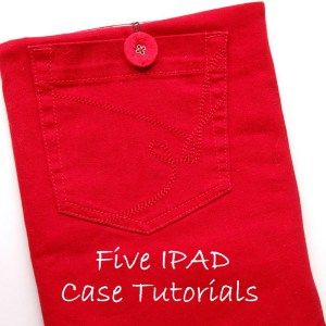 IPAD Case tutorials, recycled trousers
