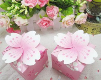 free shipping  candy box 100pcs pink cherry blossom by Bestwayoem