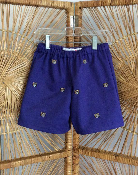 CLEMSON BOYS SHORTS...new Purple twill with orange by WrenTenTen