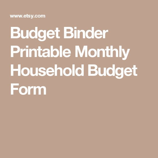 Best 25+ Budget forms ideas on Pinterest Budget planner - monthly budget