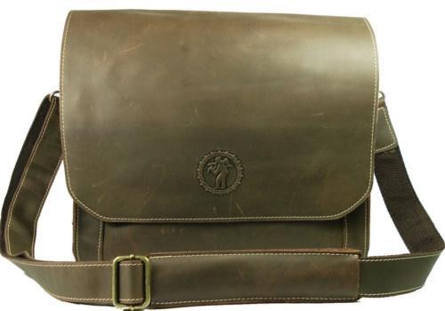 Men's Brown Full Grain Leather Shoulder Messenger Bag | eBay