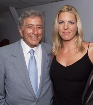 Tony Bennett and Diana Krall backstage after they launch their 'Two for the Road' tour on friday Aug 4th at the Hollywood Bowl in Los Angeles Ca...